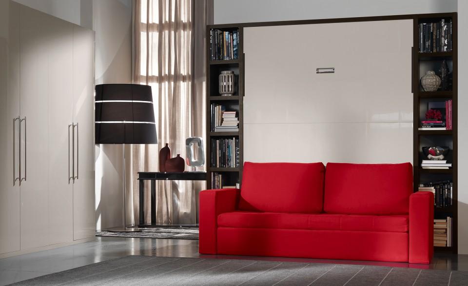Armadio letto scomparsa armadi letto trasformabili drs for Letto a scomparsa con divano